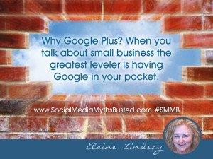 Elaine Lindsay loves Google+ for Business