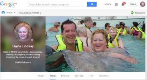 Elaine Lindsay Google+ profile
