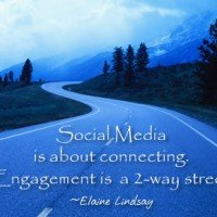 Elaine Lindsay says social-engagement-2way-street ©2014 -Social Media & Search Optimization Training