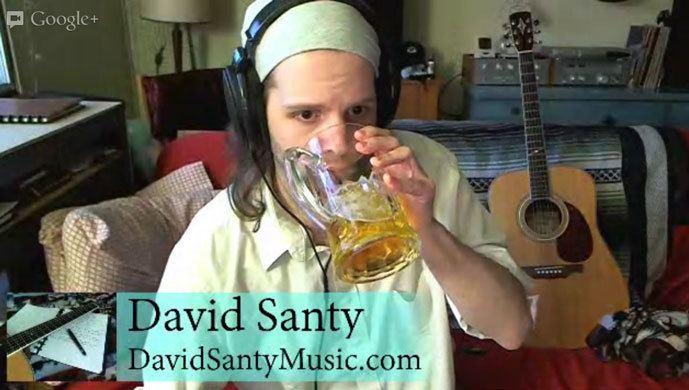 david-santy-multi-talented  singer, designer  in a hangout