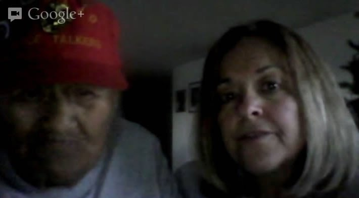 Chester Nez the last Navajo code talker with Cathy